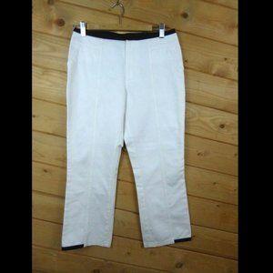 Philippe Adec Size 4 Jeans Pants Crop Cream Black
